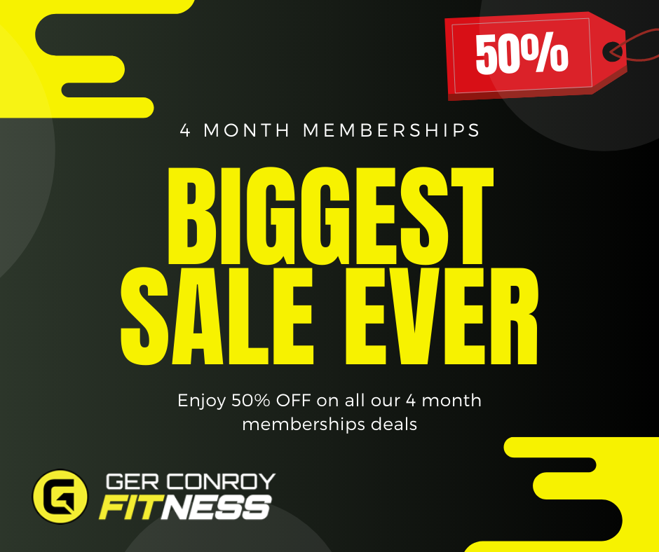 Ger Conroy Fitness 50 off 4 Month Deals